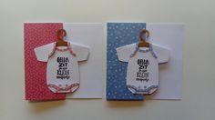 Baby kaarten met rompertjes