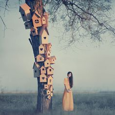 Oleg Oprisco, an inspirational 26-year-old photographer from Lviv, Ukraine, has developed a beautiful unique style of surreal photographs with astonishing girls in dramatic landscapes. What is perhaps most surprising about his work is that he uses old Kiev 6C and Kiev 88 film cameras.