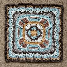 26 July 2016 Time to tackle some more ambitious Polly Plum squares for a cosy Afghan, cushion cover, wall hanging… whatever takes my fancy. Crochet Mandala Pattern, Crotchet Patterns, Crochet Square Patterns, Crochet Stitches Patterns, Afghan Patterns, Knitting Patterns, Crochet Granny Square Afghan, Crochet Ripple, Crochet Squares