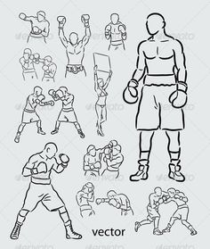Boxing Sketches #GraphicRiver Spontaneous boxing sport drawing vector. Good use for your logo, symbol, or sport event design. (Can use any size you want, without loss resolution). ZIP included : .AI rgb, .EPS cmyk, JPEG high resolution, and PNG transparent background. Created: 22June13 GraphicsFilesIncluded: TransparentPNG #JPGImage #VectorEPS #AIIllustrator Layered: No MinimumAdobeCSVersion: CS Tags: activity #boxer #boxing #champion #championship #character #clipart #competition #design…