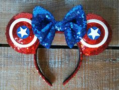 Avengers Captain America Inspired Ears by EverAfterByPatti