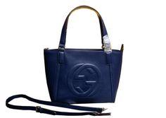 Gucci Soho Leather Top Handle Bag 369176 Royal - $229.00