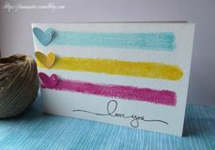 Carte Saint-Valentin / Valentine's card / I Love you