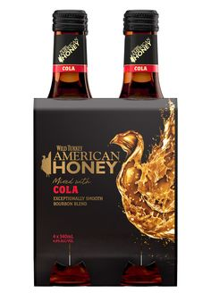 Wild Turkey American Honey Mixed with Cola, I must try it! :-D