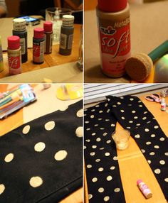 More Design Please - MoreDesignPlease - DIY: Polka Dot Skinny Jeans