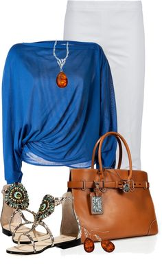"""""""Amber Jewelry"""" by tammylo-12 ❤ liked on Polyvore"""