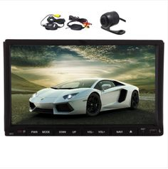 EinCar Wince 8.0 Double Din Autoradio In Dash Head Unit 7 Inch Car Stereo Bluetooth GPS Sat Nav Car DVD Player Radio Multimedia System Car Videos Support GPS Navigation System USB SD Cam-in with Wireless Backup Camera