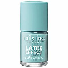 nails inc. Latex Effect in Bermondsey Street - aqua #sephora