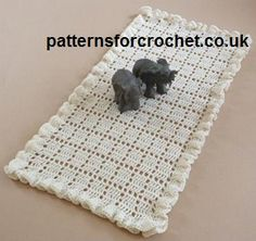 Free Vintage Crochet Table Runner Patterns : Lacet Table Runner crochet pattern originally published in ...