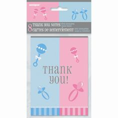 <LongDescription>Thank guests for coming to your gender reveal party or baby shower with these G...