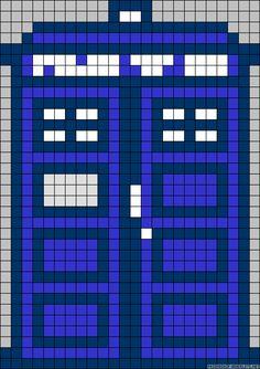 Doctor Who TARDIS perler bead (or cross stich) pattern