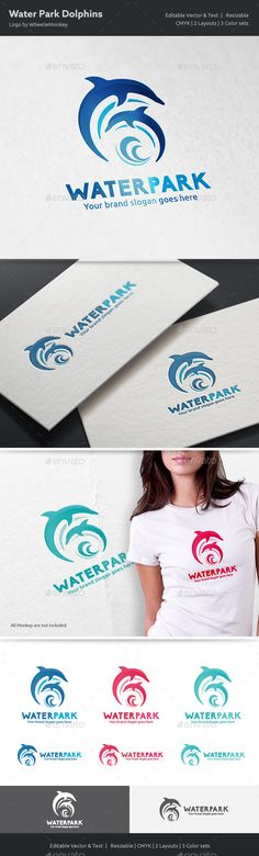Dolphins Water Park logo  — EPS Template #fun • Download ➝ https://graphicriver.net/item/dolphins-water-park-logo/18355431?ref=pxcr