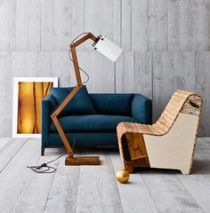 I just came across this compilation of sets created to illustrate a mix of modern and vintage in interior spaces.