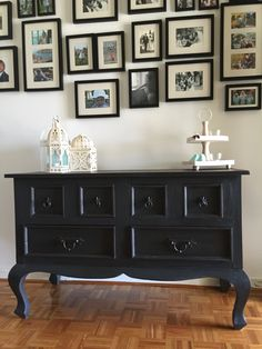 """""""Annie Sloan Graphite......The New Black"""" Refinished by The Simply Shabby Furniture Company. www.facebook.com/thesimplyshabbyfurnitureco"""