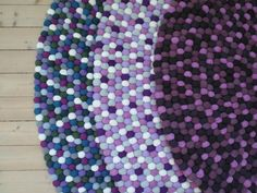 molekules felt ball rugs in Lilla! check how to design your own dream felt ball rug here: www.molekule.no