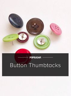 This DIY Thumbtack Is as Cute as a Button