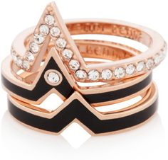 Love this: Chevron Stack Ring Set @Lyst