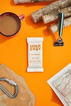 Over Easy | Healthy breakfast bars | Organic oats and protein Breakfast Bars Healthy, Street Food, Peanut Butter, Protein, Organic, Design, Nut Butter