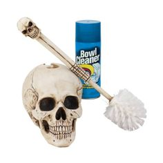 16 Gothic Skull Statue Sculpture Decorative Bathroom Toilet Bowl Brush: Home & Kitchen Gothic Bathroom Decor, Gothic Home Decor, Pirate Bathroom Decor, Gothic Bedroom, Skull Bedroom, Bathroom Interior, Spooky House, Bathroom Toilets, Bathroom Humor