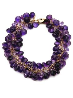 Anzie - Ice Collection - Caterpillar Bracelet - Amethyst
