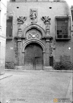 1910 - Zaragoza - Palacio  del Marques de Torrecilla Lost, Zaragoza, Antique Photos, Palaces, Towers, Cities