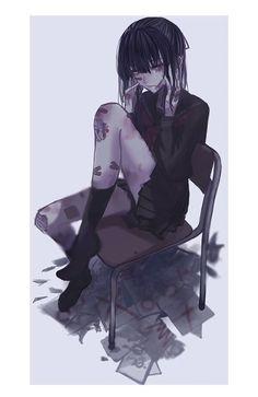 Yandere Anime, Me Anime, Chica Anime Manga, Dark Anime, Kawaii Anime, Anime Guys, Cool Anime Girl, Cute Anime Pics, Anime Art Girl