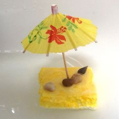Make your own floating beach island! Great summer craft for kids. By crafter Ashley Lucas for JCFamilies.