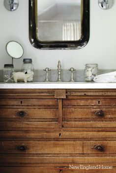 Rustic wood, marble, white