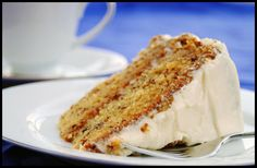 banana cake with cream cheese frosting. both recipes are really good. I use this cream cheese frosting recipe for a lot of other desserts! Frosting Recipes, Cake Recipes, Dessert Recipes, Dessert Food, Cheese Recipes, Cooking Recipes, Cheese Food, Lemon Recipes, Cheese Sauce