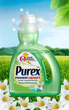 NEW Purex PowerShot Detergent – Natural Elements Linen & Lilies: This super-concentrated formula has more stain fighting power per drop and is infused with the scent of clean linen and sun-soaked lilies!