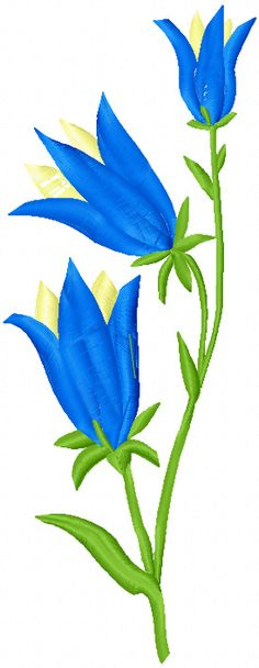 Free lily machine embroidery design