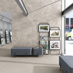 Light Grey Stone Wall and Floor Tiles