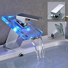 Design Wasserfall Wasserbecken Mischbatterie Waschtisch hoch ... | {Badarmaturen wasserfall 65}