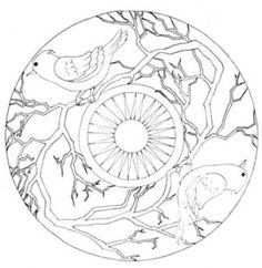 Discover recipes, home ideas, style inspiration and other ideas to try. Bird Coloring Pages, Printable Adult Coloring Pages, Coloring Books, Clay Design, Bird Design, Ceramic Painting, Fabric Painting, Dream Catcher Vector, Cd Art