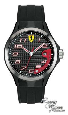 Scuderia Ferrari Mens Rubber SF 102 'Lap Time' Watch - 0830012  Online price: £125.00  www.lingraywatches.co.uk