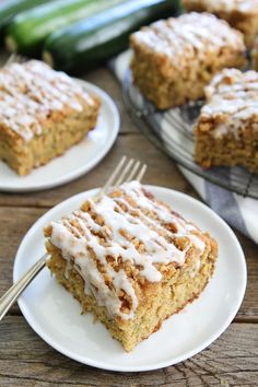 Brown Butter Zucchini Coffee Cake Recipe on twopeasandtheirpod.com Trying to use up your summer zucchini? You HAVE to make this cake. It is amazing!