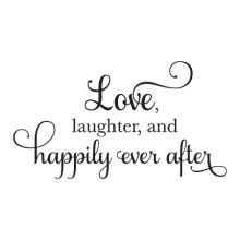 Happily Every After Elegant Script inspirational for any home Wall Quotes™ Decal
