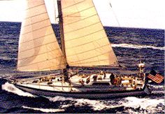 Dodge Morgan sailed American Promise around the world alone. The US Naval Academy sailed her with 16 midshipmen and Rozalia Project averages a nice middle with people onboard picking up marine debris and running education programs. Sailing Yachts, Sailing Ships, Marine Debris, Naval Academy, Sailboats, Boating, Dodge, Middle, Around The Worlds