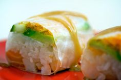 Island roll- Cucumber, Avocado, Crab, Salmon, Shrimp, Tobiko, and Special Sauce.