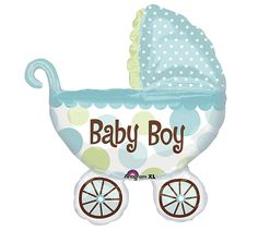#burtonandburton Baby Boy buggy shaped balloon is great for baby showers and new arrivals!! #balloons #baby_shower