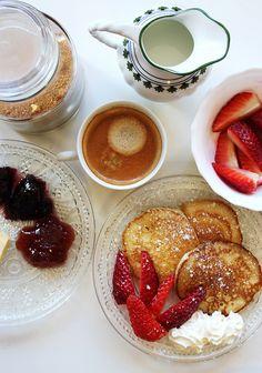 Receta de pancakes (tortitas) escoceses   Scottish pancakes recipe.