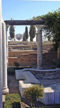 Una villa romana en Itálica, España.