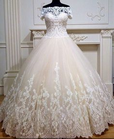Plus size wedding gowns like pretty lace design can be made to order for your specific body shape. Contact us directly for pricing on custom #plussizeweddingdresses or replica dress designs in your price range.