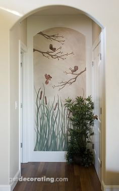 Always wanted to do this with a garden gate. End of the hall mural