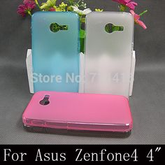 """New Arrival Soft TPU pudding silicone Transparent Phone Case Cover Protective Skin For ASUS zenfone4 zenfone 4 4"""" A400 A400CG"""