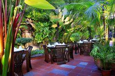 Outoor garden restaurant