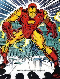 Iron Man comic book artwork by John Romita Jr. and Bob Layton