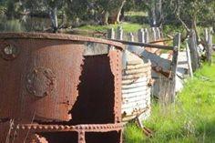 Duck Lagoon Kangaroo Island. A relic of one of the past Eucalyptus Oil Distilleries. See more on our blog. Eucalyptus Oil Uses, Kangaroo Island, South Australia, Distillery, East Coast, Wildlife, Explore, Adventure, Sunset