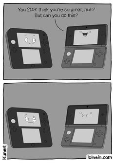 Many people mentioned how the smartphone comic reminded them of the new 2DS. So here you go!