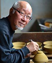 foto de artista de la cerámica japonesa Koji Kamada